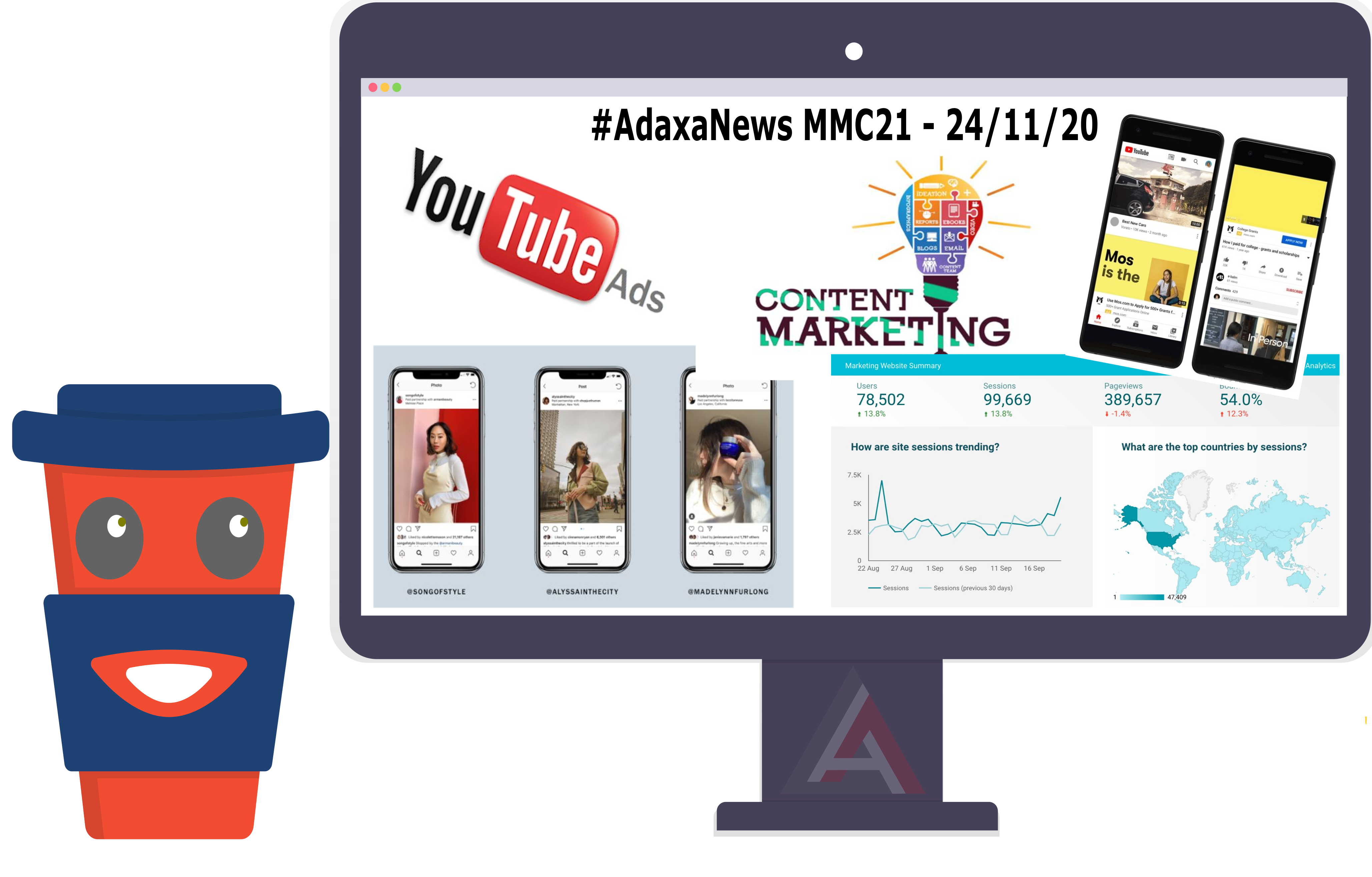 YouTubeAds, Instagram Branded Content Ads, Content Marketing Trends & More – [MMC-21]