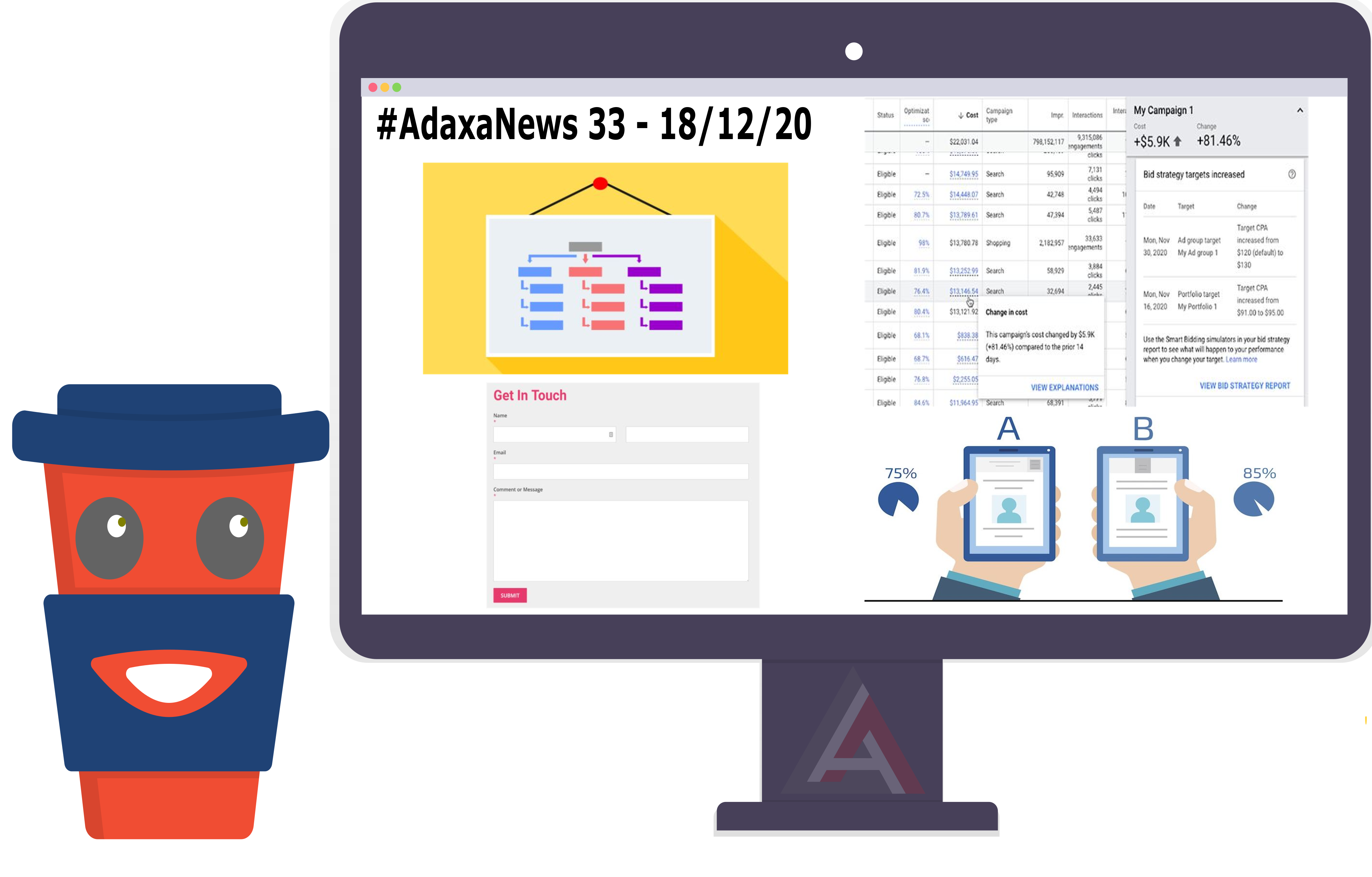 Contact Form Vulnerability, HTML Sitemap, Target CPA Explanations, A/B Testing – #AdaxaNews-33